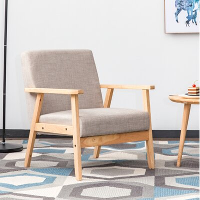 Cassady Mid Century Wood Armchair Finish: Natural