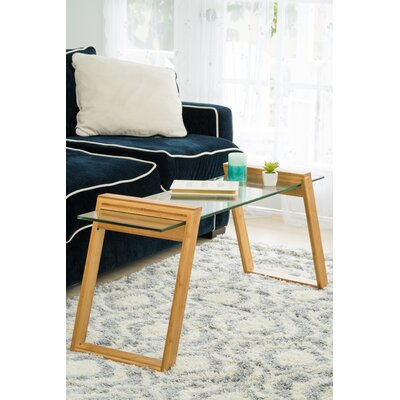 Chalfant Glass and Bamboo Coffee Table