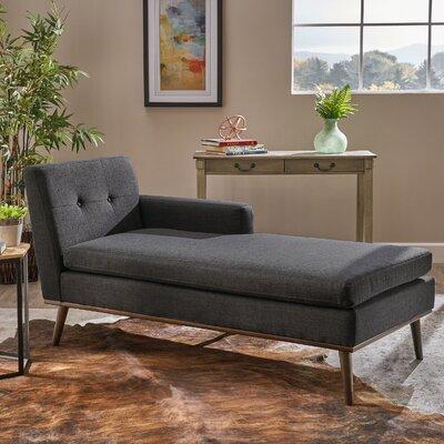 Charlcombe Mid Century Chaise Lounge Upholstery: Muted Dark Gray