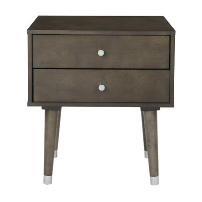 Yearby 2 Drawer End Table Color: Gray