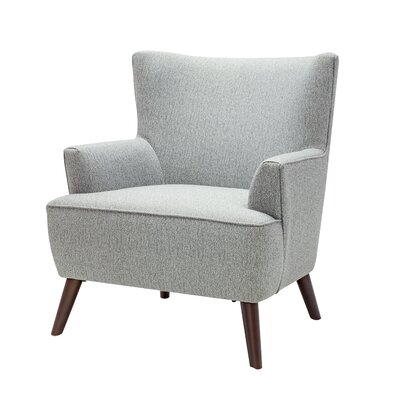 Digiacomo Wingback Chair Upholstery: Gray
