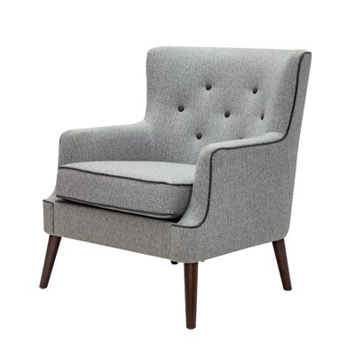 Digiovanni Wingback Chair Upholstery: Gray