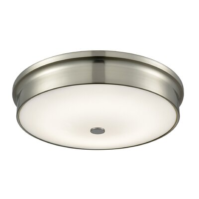 Colden 1-Light LED Flush Mount Base Finish: Satin Nickel