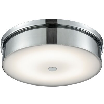Colden 1-Light LED Flush Mount Base Finish: Chrome