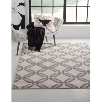 Colesberry Gray/Beige Area Rug Rug Size: 79 x 106