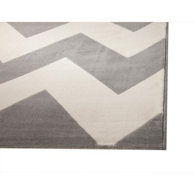 Colesberry Gray/Ivory Area Rug Rug Size: 53 x 76