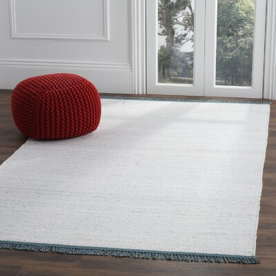 Sojourn Hand-Woven Gray/Blue Area Rug Rug Size: 5 x 8