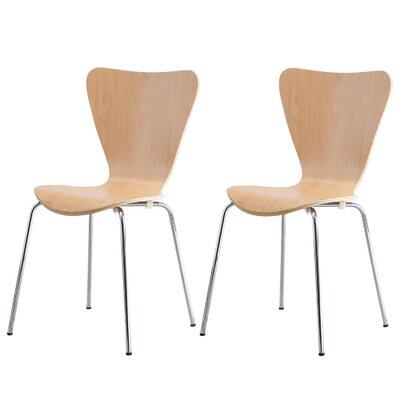 Edensor Indoor/Outdoor Side Chair (Set of 2) Finish: Natural Beech Veneer