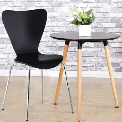 Prompton Indoor/Outdoor Dining Chair (Set of 2) Finish: Black