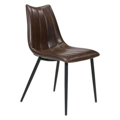Emiliano Upholstered Dining Chair Color: Brown