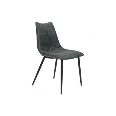 Emiliano Upholstered Dining Chair Color: Vintage Black
