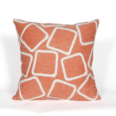 Colley Throw Pillow Color: Coral