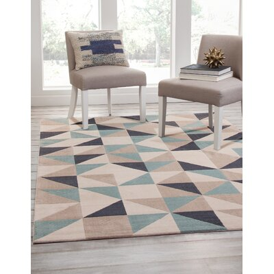 Colesberry Teal/Gray Area Rug Rug Size: 79 x 106