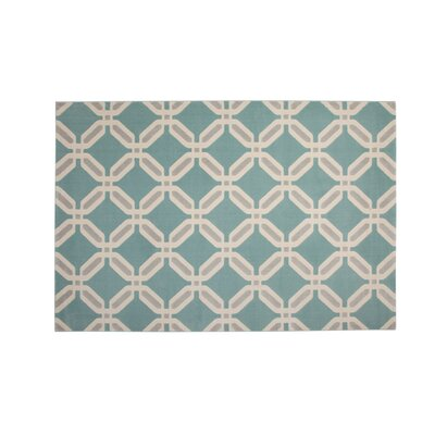 Colesberry Gray/Teal Area Rug Rug Size: 53 x 76