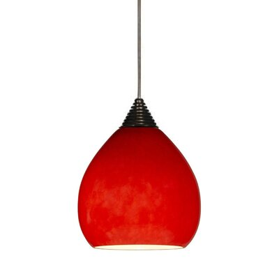 Colt LED 1-Light Mini Pendant Finish: Rust
