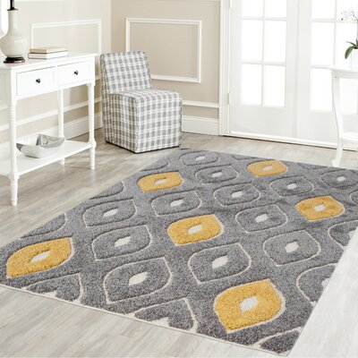 Gray/Yellow Area Rug