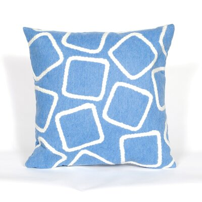 Colley Throw Pillow Color: Blue