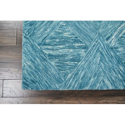 Divernon Hand-Woven Wool Marine Area Rug Rug Size: 39 x 59