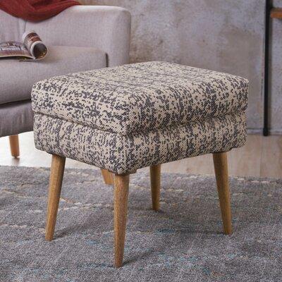 Jeneva Fabric Ottoman Upholstery: Dark Gray