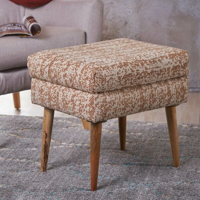 Jeneva Fabric Ottoman Upholstery: Peach