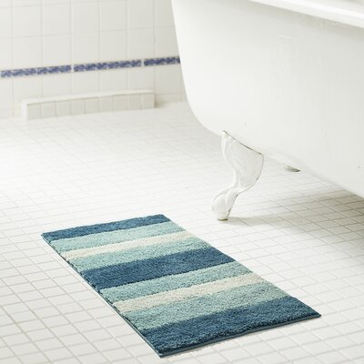 Breton Ombre 2 Piece Microfiber Bath Rug Set Color: Aqua