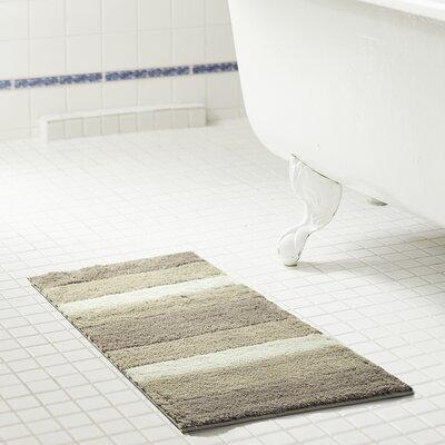 Brandeis Ombre Microfiber Bath Rug Size: 17 H x 24 W x 0.5 D, Color: Beige