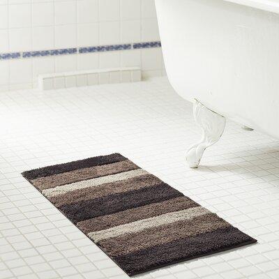 Brandeis Ombre Microfiber Bath Rug Size: 17 H x 24 W x 0.5 D, Color: Chocolate