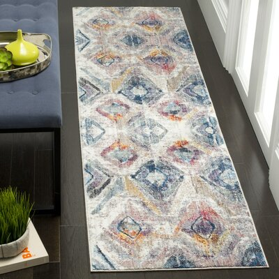 Newport Lavender/Light Gray Area Rug Rug Size: Rectangle 51 x 76
