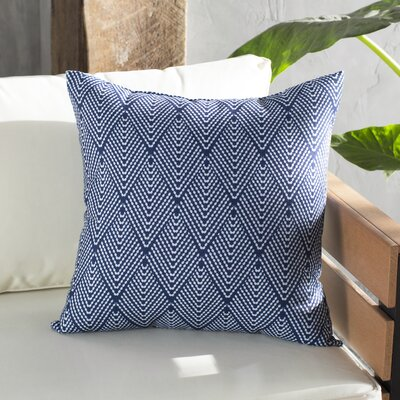 Waller Outdoor Throw Pillow Size: 16 H x 16 W, Color: Navy Blue