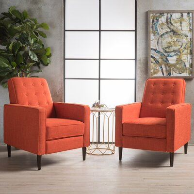 Russo Manual Recliner Color: Orange