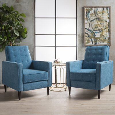 Russo Manual Recliner Color: Muted Blue
