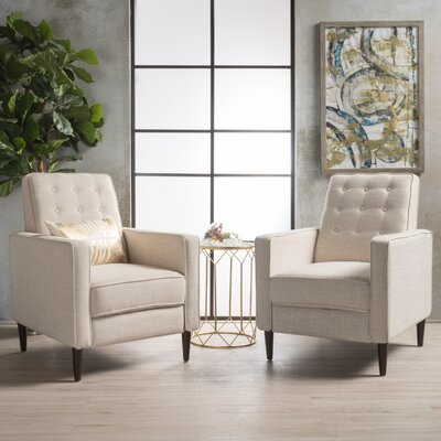 Russo Manual Recliner Color: Wheat