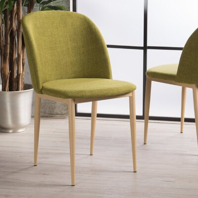 Jefferson Fabric Side Chair Upholstery: Green