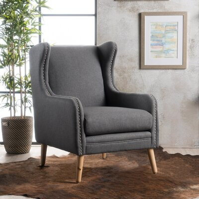 Coombs Wingback Chair Upholstery: Charcoal