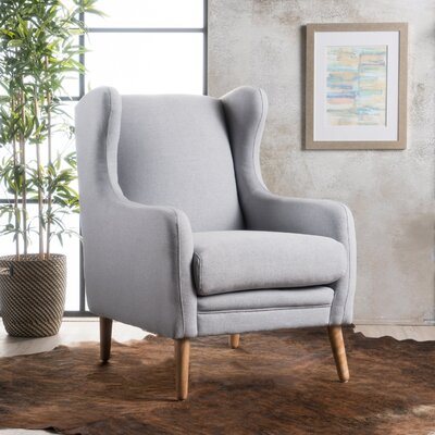 Cooper Wingback Chair Upholstery: Light Gray
