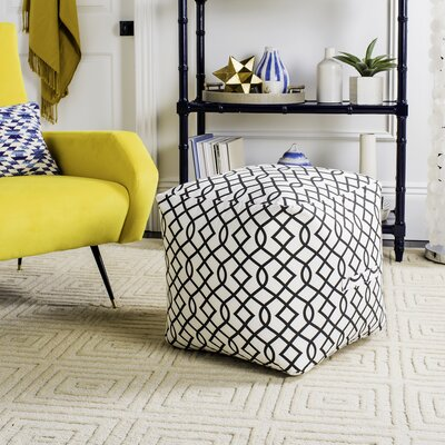 Donlon Pouf Upholstery: Black