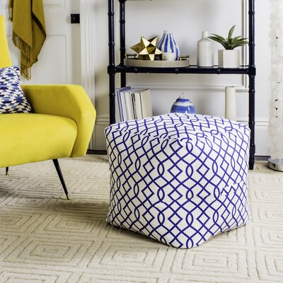 Donlon Pouf Upholstery: Blue
