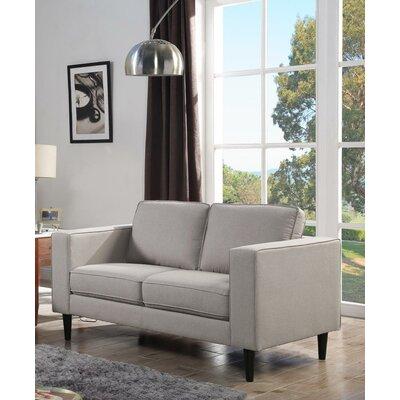 Demps Loveseat Upholstery: Beige