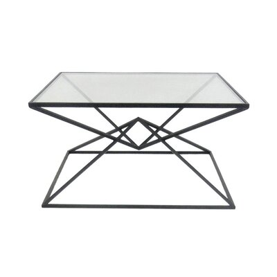 Carmon Metal Glass Top Coffee Table