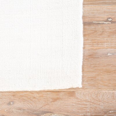 Morley Solid Ivory/White Rug Rug Size: Rectangle 8 x 10