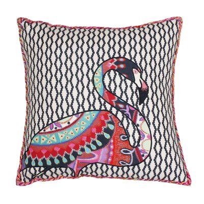 Randy Embroidered Cotton Throw Pillow