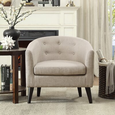 Peterson Barrel Chair Upholstery: Beige