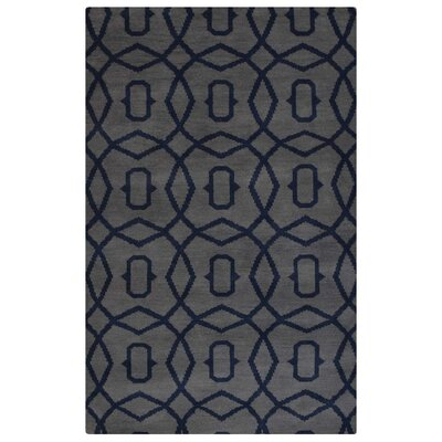 Sampson Geometric Hand-Woven Wool Light Blue Area Rug Rug Size: Rectangle 5 x 8