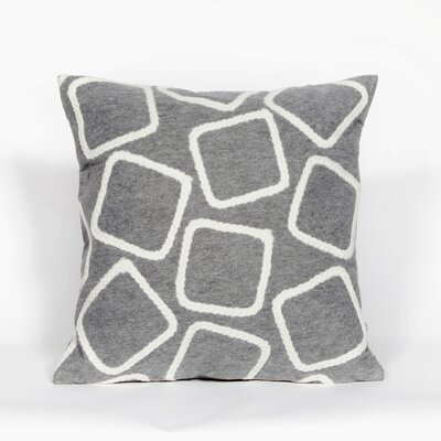 Colley Throw Pillow Color: Silver