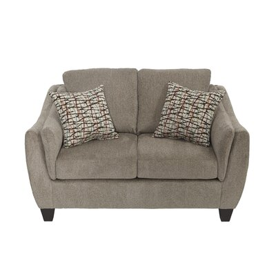 Serta Upholstery Bartlett Loveseat Upholstery: Furby Pewter