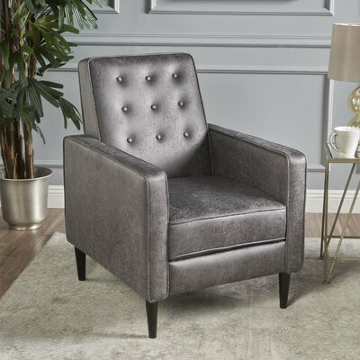 Kenzie Recliner Upholstery: Slate Microfiber