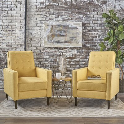 Kenzie Recliner Upholstery: Muted Yellow