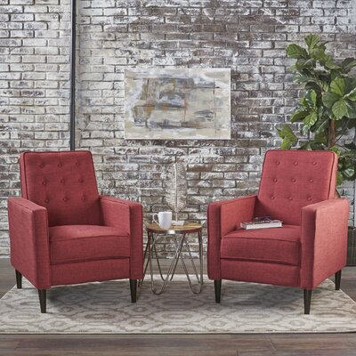Kenzie Recliner Upholstery: Red
