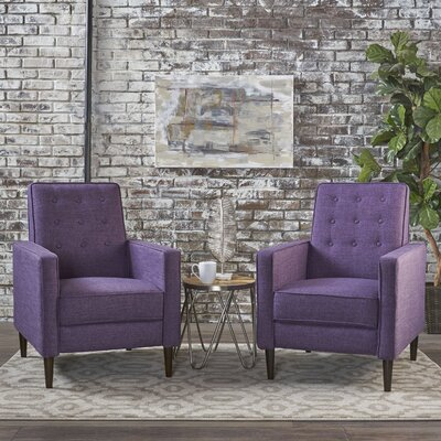 Kenzie Recliner Upholstery: Muted Purple