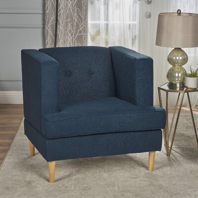 Burnham Armchair Upholstery: Navy Blue